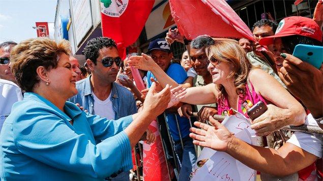 Em cidades mineiras, por onde a candidata Dilma Rousseff tem passado, a recepção tem sido calorosa